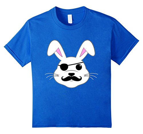 [Kids Funny Easter Day T Shirt Kids Boys Girls Adult Bunny Pirate 6 Royal Blue] (Woman Pirate Outfit Ideas)