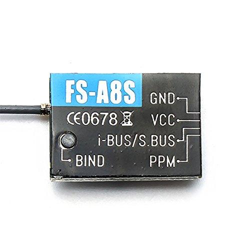 LHI Flysky FS-A8S 2.4G 8CH Mini SBUS PPM Receiver i-BUS For Quadcopter FS-i6X Rc FS-i4 FS-i6 FS-i6S Transmitter