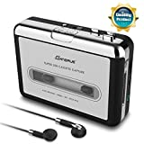 USB Cassette Tape to MP3 Converter,2019 Upgrade Version Portable CD Music/Walkman Tapes Recorder Digital Audio Music Player Earphone