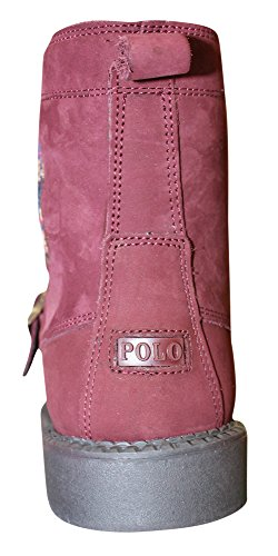Polo Ralph Lauren Enfants Ranger Salut Ii Botte Mode Nubuck Bourgogne