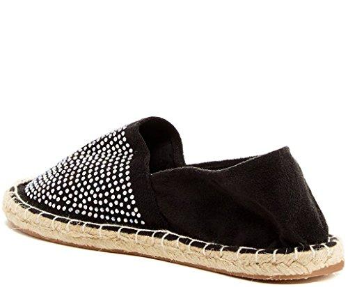 Bucco Naia Womens Fashion Vegan Slip-On Espadrille Flats Black UovNkhQeum