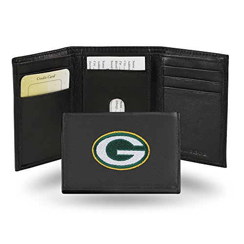 Green Bay Packers Items - NFL Green Bay Packers Embroidered Genuine Cowhide Leather Trifold Wallet