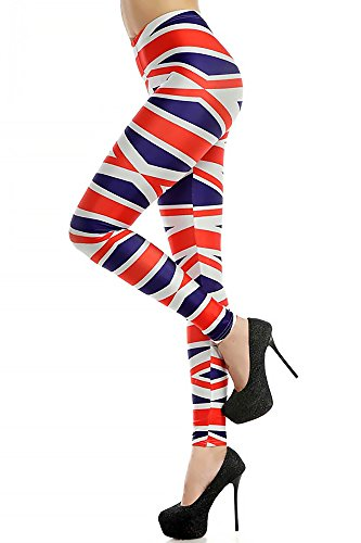 union jack leggings - 4