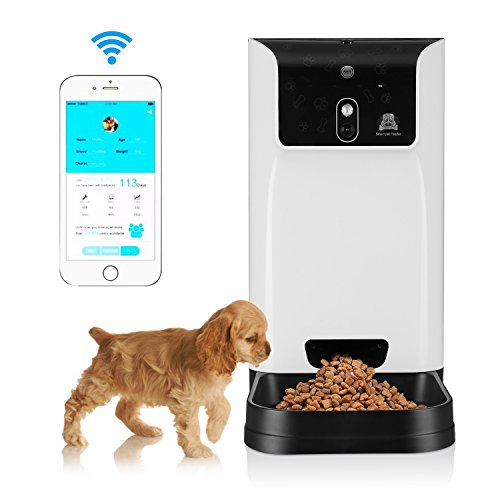 Petera Smart Feeder,The Automatic pet feeder with 1.3MP HD wireless camera and night vison for Dog and Cat, The Automatic Dog Cat Feeder Wi-Fi Enabled App for iPhone , Androidor Other Smart Devices