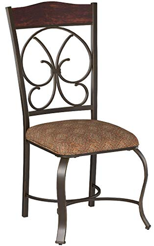 Ashley Furniture Signature Design - Glambrey Dining Room Chair Set - Scrolled Metal Accents - Set of 4 - Brown by Signature Design by Ashley (Image #11)