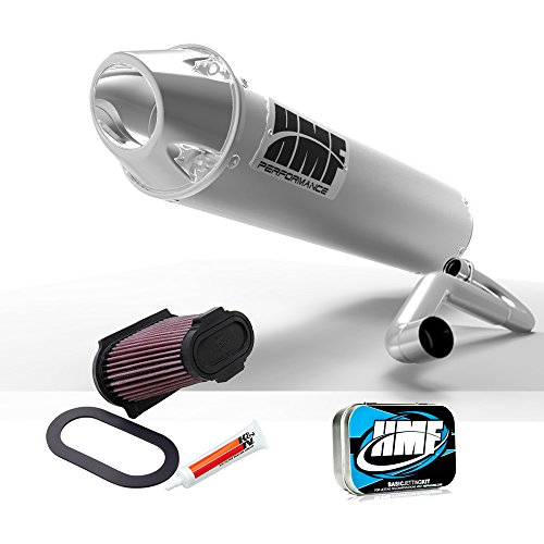 Hmf Exhaust Systems - HMF Yamaha Raptor 660 2001 - 2005 Brushed/Pol Full Exhaust Muffler + JET + KN