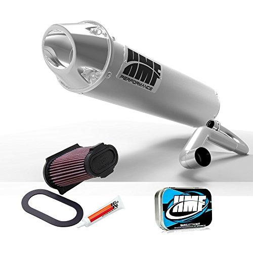 Full System Hmf (HMF Yamaha Raptor 660 2001 - 2005 Brushed/Pol Full Exhaust Muffler + JET + KN)