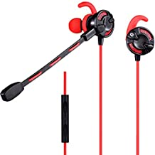 SINOBAND G618 Gaming Headphones, Dual Microphones Design In-Ear Gaming Headset Earphones, High Definition, Tangle Free, Noise Isolating , HEAVY DEEP BASS for iPhone, iPod, iPad, MP3 Players, Samsung Galaxy, Nokia, HTC, Nexus, BlackBerry, PC, Laptop etc (Red)