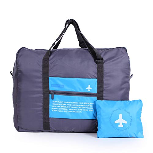 CHYOUL Travel Foldable Packable Lightweight High Capacity Luggage Duffle Tote Bag Blue