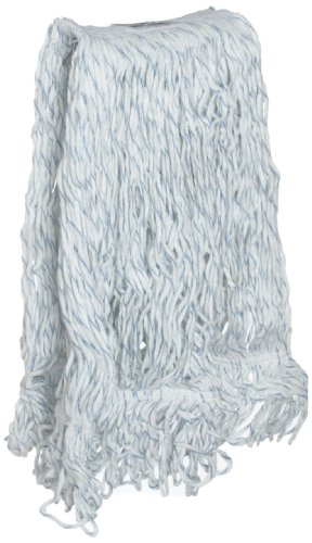 Rubbermaid Commercial 20 OZ Swinger Loop Finish Wet Mop, 1 IN Headband, White, (FGC41206WH00)