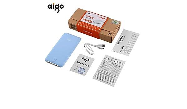 Debosah AIGO T10000 Dual USB 10000MAH Portable Power Bank Charger ...