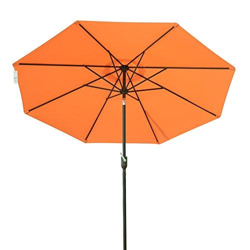 Coismo 9ft Patio Outdoor Market Umbrella with Crank and Tilt, Earth Yellow