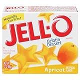 Jell-o Apricot Flavor Gelatin 3 oz - 24 Unit Pack