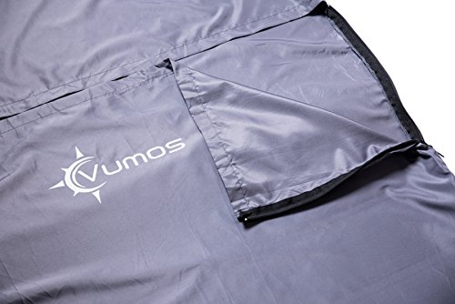 Sleeping Bag Liner and Camping Sheet – Use as a Lightweight Sleep Sack when you Travel Has Full Length Zipper