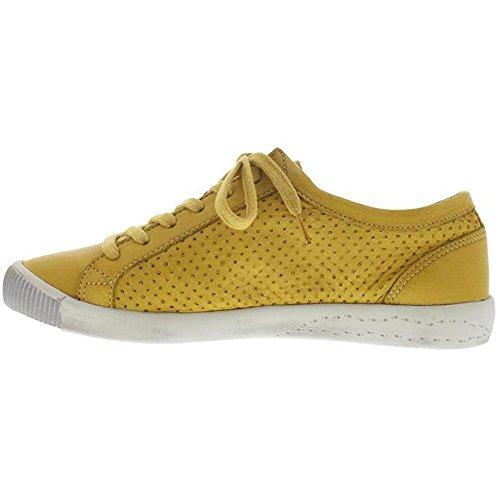 Softinos Damen Ica388sof Sneaker Gelb