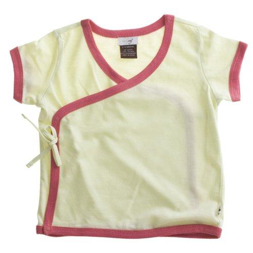 Babysoy Baby Short Sleeve Kimono Tee (6-12 Months, Tea)