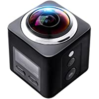 BOLAN-MALL Action camera, Ultra HD 4K VR Video 360° Panoramic Camera, 60m Waterproof and Wifi Sport Camera