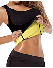 GainKee Neoprene Sweat Waist Trainer Vest For Weight Loss Women Slimming Shirt Body Shaper With Sauna Suit Effect