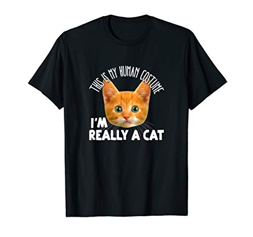 This Is My Human Costume I'm Really A Cat Shirt Orange Cat ()