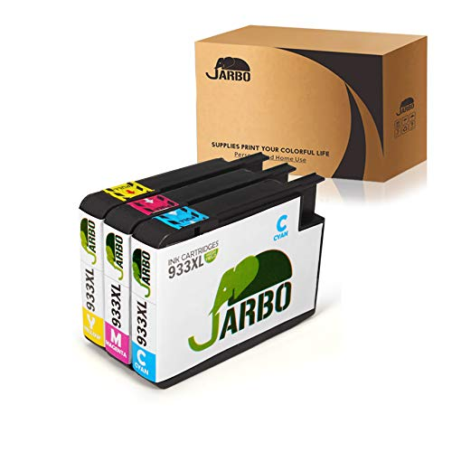 JARBO Compatible Ink Cartridge Replacement for HP 933XL High Yield, 3 Colors (1 Cyan 1 Magenta 1 Yellow), Compatible with HP Officejet 6700 HP Premium 6600 6100 7110 7610 7612 Printer (Hp 933xl Ink Cartridges)