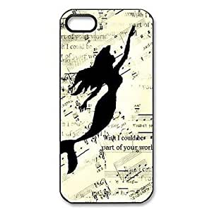 Mermaid Pattern Plastic Hard Case for iPhone 5/5S