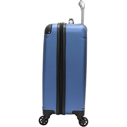 Verdi Luggage Carry On 20 inch ABS Hard Case Rolling Suitcase With Spinner Wheels (Dark Lake Blue)