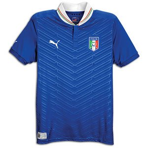 PUMA World Cup Italy 2012 Home Replica Soccer Jersey - Royal Blue (Large)
