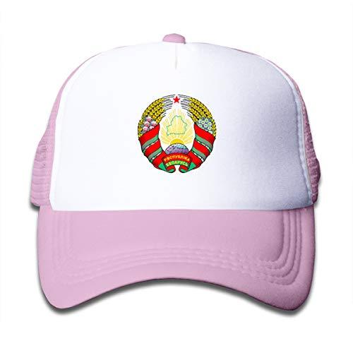 - Coat of Arms of Belarus Children Sun Cap Hat Pink