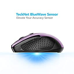 TeckNet Pro 2.4G Ergonomic Wireless Mobile Optical Mouse with USB Nano Receiver for Laptop,PC,Computer,Chromebook,Macbook,Notebook,6 Buttons,24 Month Battery Life,5 DPI Adjustment Levels