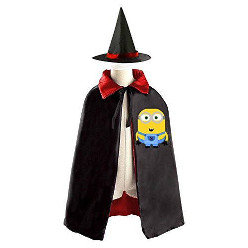 Despicable Me 3 Logo Kids Halloween Party Costume Cloak Wizard Witch Cape With Hat (Agnes Costume Toddler)
