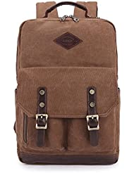 KaLeido Vintage Canvas Laptop Backpack Rucksack Schoolbag