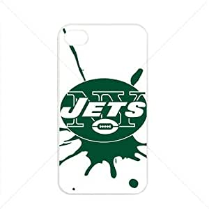 NFL American football New York Jets NY Jets Fans Apple iPhone 4 / 4s TPU Soft Black or White case (White) hjbrhga1544