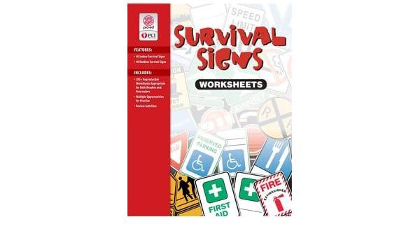 Survival signs worksheets: A visual