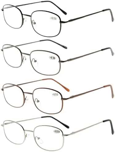 d2faa2706fea Eyekepper Metal Frame Spring Hinged Arms Reading Glasses Pack of 4 Pairs(1  Pair of