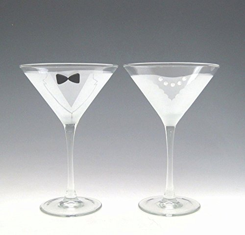 Crystal Martini Necklace (Asta Glass Bride and Groom Martini Glasses, Set of 2)