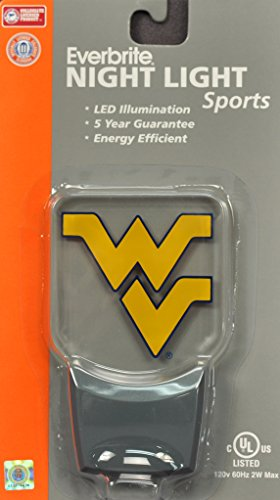(Authentic Street Signs 3-Pack NCAA Officially Licensed, LED Night Light, Super Energy Efficient-Prime Power Saving 0.5 watt,Great Sports Fan Gift for Adults-Babies-Kids (West Virginia Mountaineers))
