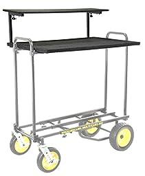 RocknRoller RSHM2 Multi-Media 2-Tier Shelf for Multi Cart