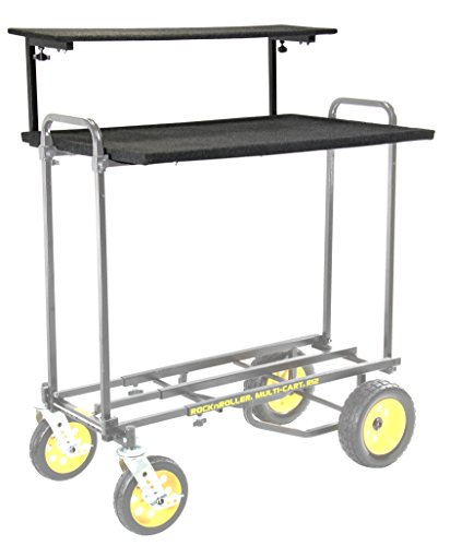 RocknRoller RSHM2 Multi-Media 2-Tier Shelf for Multi Cart