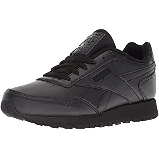 Reebok Womens Classic Harman Run Sneaker, black/black, 6.5 M US