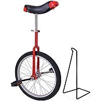 Funsport Monocycle Réglable 18 Pouces Rouge
