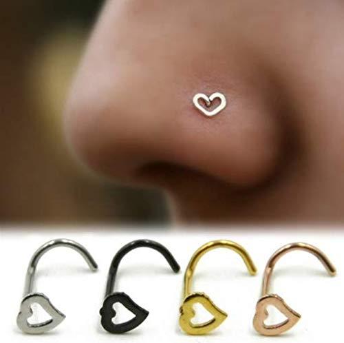 2Pcs Surgical Steel Nose Ring Piering Nez Nose Piercing Nose Stud Cartilage Piercing Randomly send