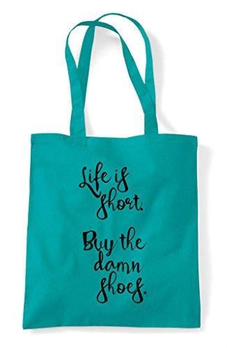 Shopper Shoes Buy Is Short The Statement Tote Damn Life Emerald Bag q1zAWAx