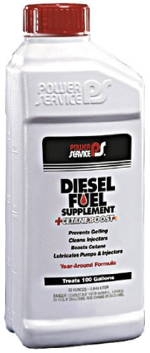 (Power Service 1025-12PK +Cetane Boost Diesel Fuel Supplement Anti-Freezer - 1 Quart, (Pack of 12))