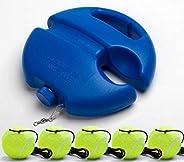 with line Tennis Rebound give Five Balls Single Rope Tennis Trainer Fixed Exerciser Tennis Belt line Rebound B