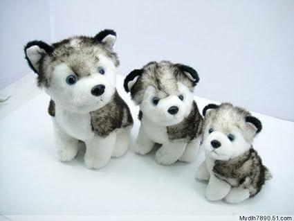 Amazon Com Husky Dog Plush Stuffed Alaskan Malamute Animal 12 And