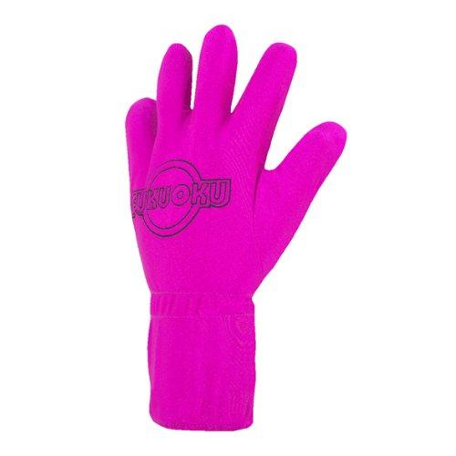 Fukuoku Pink Left Hand Five Finger Vibrating Massage Glove - (fits Small To Medium Hand) - Left Hand Massage Glove