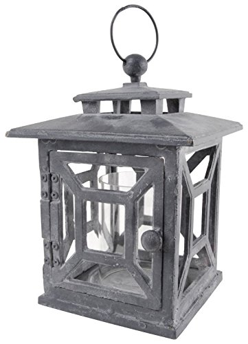 Esschert Design USA WL27 Cast Iron Garden Lantern, Square