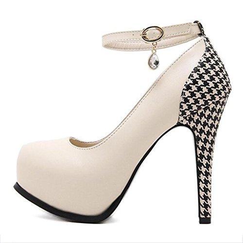 46f4eeeb ... W&LM Sra Tacones altos De acuerdo Tacones altos Boca rasa Piedras de  Strass Zapatos de tobillo ...