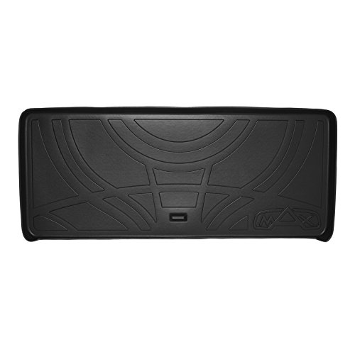 MAXTRAY All Weather Cargo Liner Floor Mat Behind 3rd Row Black for 2007-2016 GMC Acadia / 2017 Acadia Limited (Old Body Style) / 2007-2010 Outlook - Gmc Cargo Liner