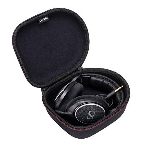 LTGEM Travel Carrying Headphone Case Compatible with Sennheiser HD 4.40/HD 4.50/HD 598/HD579/HD558/HD202 II/HD201/HD419/HD229/HD202/HD518/HD555 (Black)